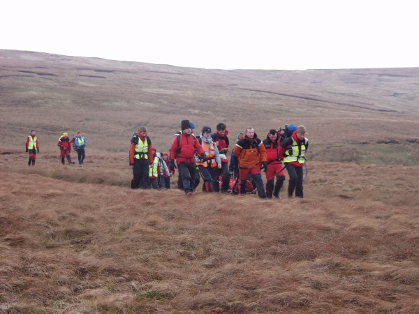 North pennine  Search group on fell