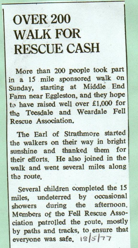 Over 200 walk for rescue cash